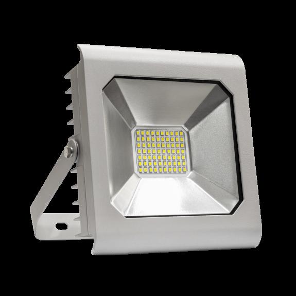 LED Fluter / Wandfluter 50W silber