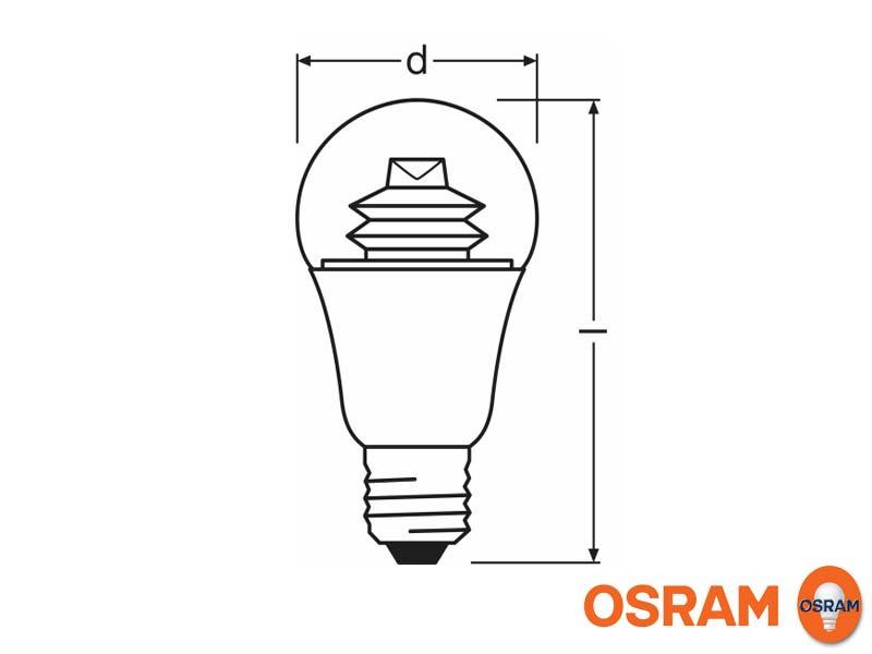 Abmessungen E27 LED dimmbar