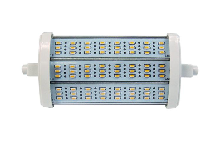 R7s LED 8W = 580 Lumen 2900K