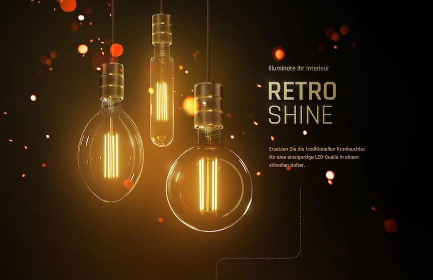 Komplettsatz RETRO SHINE Leuchte