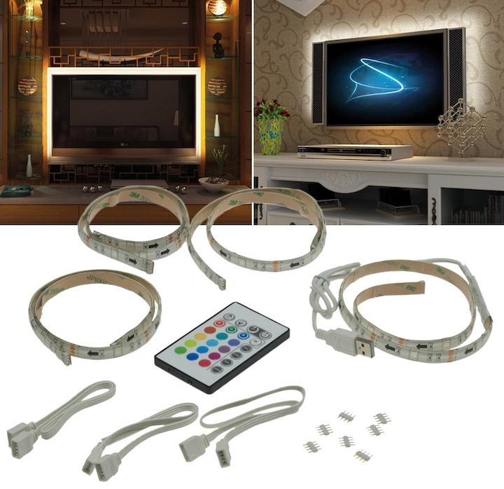 RGB LED Set TV Backlight Hintergrund USB