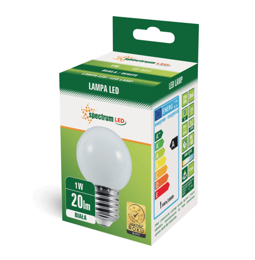 Weisse 1W LED Birne E27