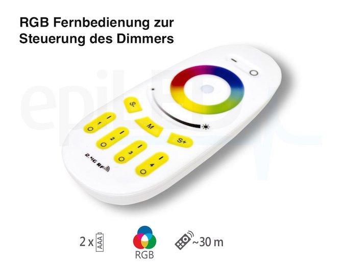 Funk RGB Fernbedienung für 4 Zonen RGB Controller