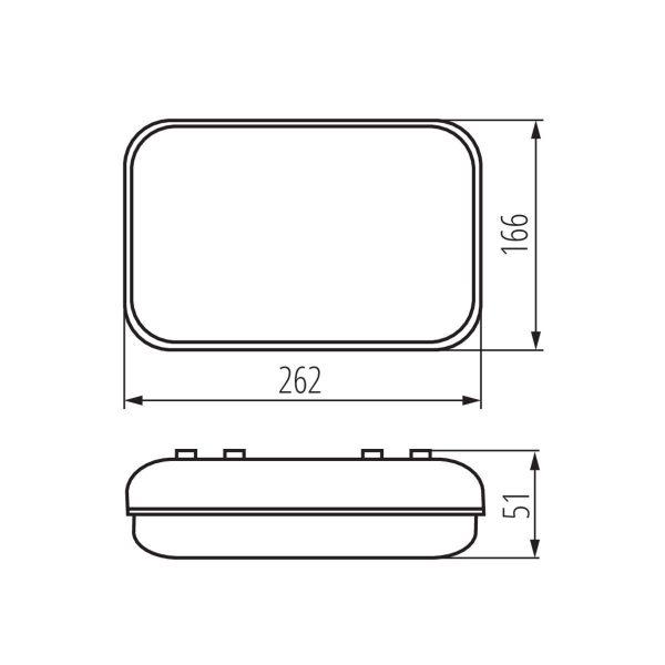 5W LED Deckenleuchte / Wandleuchte mit Dämmerungssensor IP54
