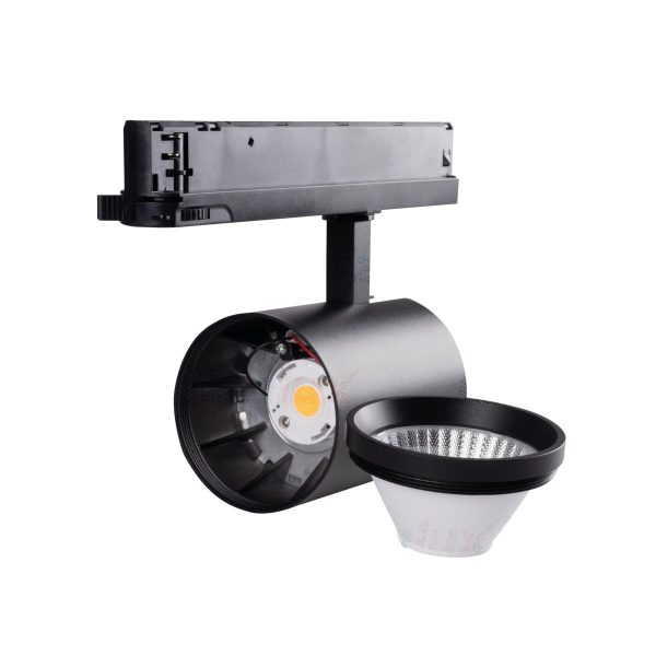 3 Phasen Stromschiene LED 30W schwarz